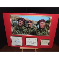 The WILD GEESE Richard Burton Roger Moore Richard Harris Genuine Authentic Signed Display UACC DEALER RD#285