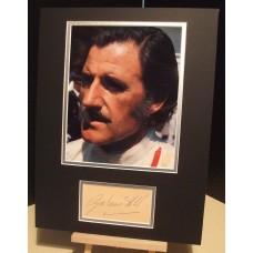 HILL GRAHAM British Formula 1 Racing Driver Signed Display UACC RD#285 DEALER