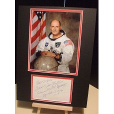 STAFFORD TOM Apollo 10 Astronaut Genuine Signed Display UACC DEALER COA