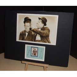 LAUREL Stan & HARDY Oliver  Authentic Vintage Signed Display UACC RD#285 COA