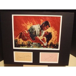 CLARK GABLE and VIVIEN LEIGH Gone with the Wind Signed Display UACC DEALER RD285 COA