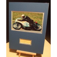 HAILWOOD MIKE Motorcycle Champion Genuine Authentic Signed Display UACC DEALER RD#285 COA