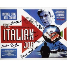 The ITALIAN JOB Cast Signed Photo x7 Genuine In Person UACC COA