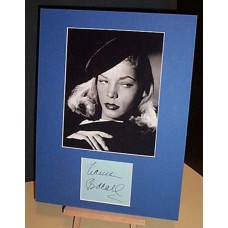 BACALL Lauren The Big Sleep Genuine Signed Display UACC COA