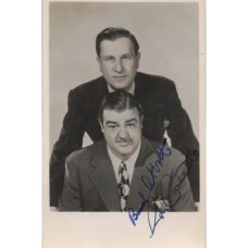 BUD ABBOTT and LOU COSTELLO Signed Photograph UACC RD#285