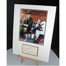 ABBOTT and COSTELLO Signed Autographed Display UACC COA