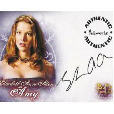 ALLEN Elizabeth Anne Signed Buffy Trading Card