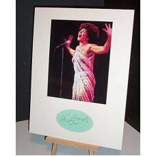 BASSEY Shirley Goldfinger Autographed Display UACC COA