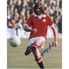 BEST George Manchester United Signed Photo 871G UACC COA