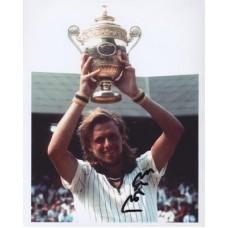 BORG Bjorn Wimbledon Champion 327F Signed Photo UACC COA