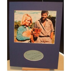 BORN FREE Virginia McKenna Bill Travers Signed Display UACC COA