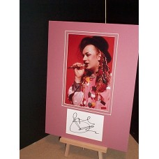 GEORGE Boy Culture Club Signed Display UACC COA