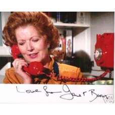 BROWN Janet James Bond Signed Photo UACC COA
