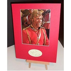 CAINE Michael Zulu Signed Autographed Display UACC #RD285