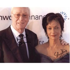 CAINE Michael and Shakira RARE Double Signed Photo 017G UACC COA