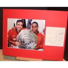 CANTONA Eric & INCE Paul Man Utd Legends Signed Display UACC COA