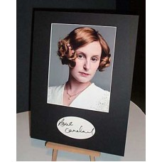 CARMICHAEL Laura Downton Abbey Autographed Display UACC COA