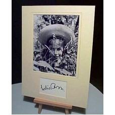 CARON Leslie Gigi Mounted Autograph Display UACC COA