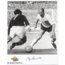 CHARLTON Bobby Man Utd Autographed Editions Signed UACC