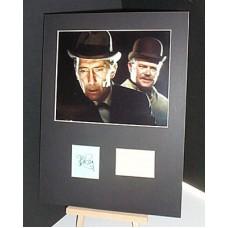CUSHING Peter STOCK Nigel Sherlock Holmes Signed Display UACC COA