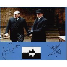 DOWNTON ABBEY Cast Signed x2 Photo 293J UACC