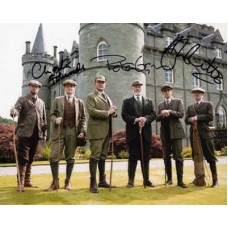 DOWNTON ABBEY Cast Signed Photo x3 Hugh Bonneville 873H UACC