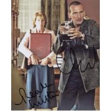 Dr WHO ECCLESTON Christopher WILTON Penelope In Person Autographs UACC COA