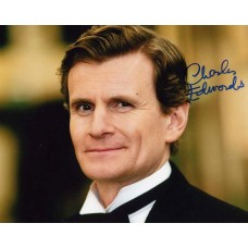 EDWARDS Charles Downton Abbey Signed Photo 415J UACC