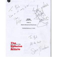EXTRAS Cast Signed Original Shooting Script UACC COA