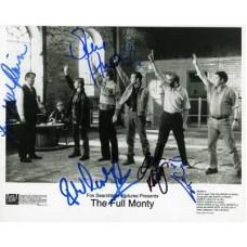 FULL MONTY The Cast x6 In Person Signed Press Still 885H UACC COA
