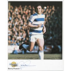 FRANCIS Gerry QPR Autographed Editions Signed Photo UACC