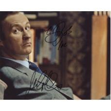 GATISS Mark Mycoft Holmes in Sherlock Signed Photo 154H UACC COA