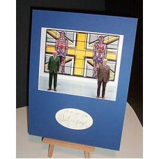 GILBERT and GEORGE Rare Autographed Display COA UACC