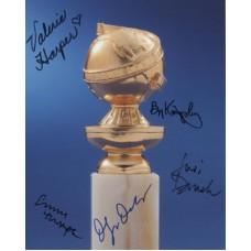 GOLDEN GLOBE Photo Signed by 5 830G Emma Thompson UACC COA