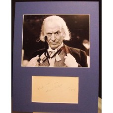 HARTNELL William 1st Dr Who Signed Autographed Display UACC RD#285 COA