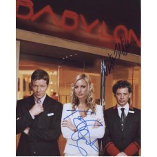 HOTEL BABYLON Cast x2 Signed In Person Autographs 669G UACC COA