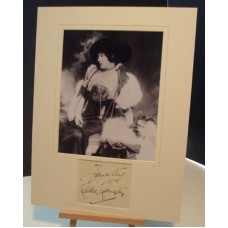 LANGTRY Lillie Jersey Lily Signed Autographed Display UACC COA