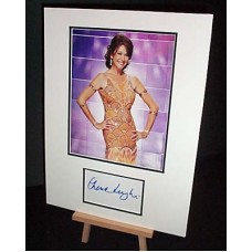 LUNGHI Cherie Strictly Come Dancing Signed Display UACC COA