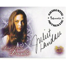 LANDAU Juliet Buffy Signed Trading Card UACC COA