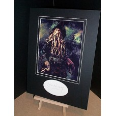 NIGHY Bill Pirates of the Caribbean Autographed Display UACC