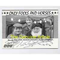 ONLY FOOLS AND HORSES Cast Signed BBC Original Fan Card 306H UAC