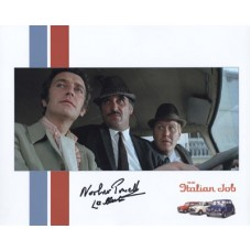 POWELL Nosher CLARK Les The Italian Job Signed Photo 34H UACC
