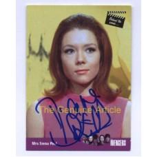 RIGG Diana The Avengers Signed Trading Card 133H UACC COA