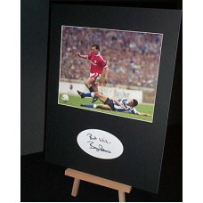 ROBSON Bryan Man Utd Legend Signed Display UACC COA