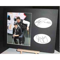 RYDER CUP 2010 RORY McILROY GRAHAM McDOWELL Signed Display UACC COA