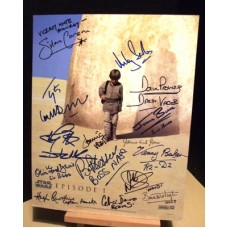 STAR WARS Cast Signed x16 In Person Autographs UACC