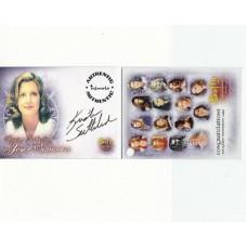 SUTHERLAND Kristin Buffy Signed Trading Card UACC COA