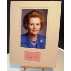 THATCHER Margaret British Prime Minister Signed Display UACC COA