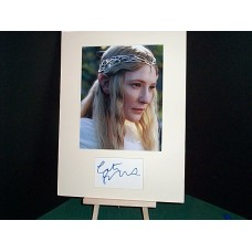 BLANCHETTE Cate Lord of the Rings Signed Display UACC COA