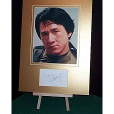 CHAN Jackie Signed Autographed Display UACC
